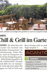 Acanto Freistadt, Chill & Grill im Garten