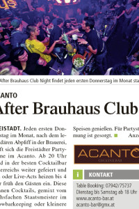 Acanto Freistadt, After Brauhaus Club
