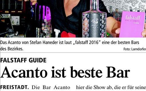 """Das Acanto von Stefan Haneder ist laut """"falstaff 2016"""" eine der besten Bars des Bezirkes"""